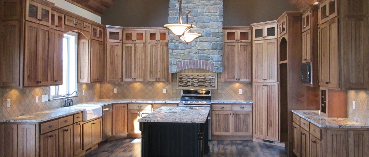 Granite Kitchen Countertops with Island