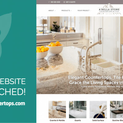 ABella Stone Countertops & Tile Website Launch