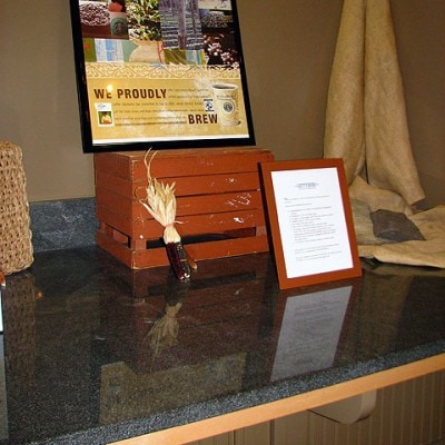 Gettysburg Granite Display Table