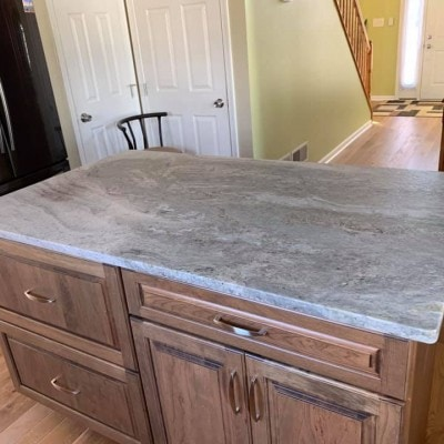 Blue Fantasy Granite Kitchen Countertop Island