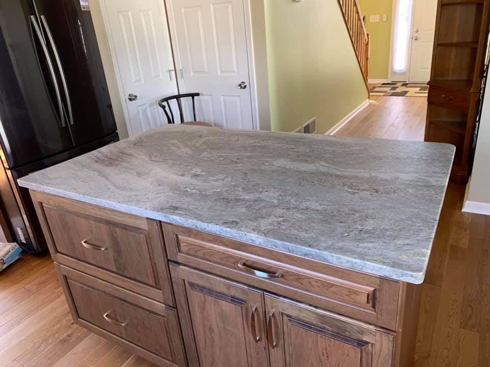 Blue Fantasy Granite In Leather Finish For Kitchen